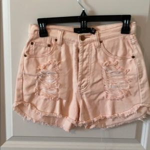Mink Pink XS peach shorts